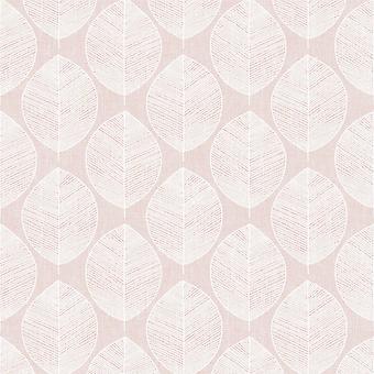 Scandi Blatt Tapete Blume Floral geometrische Motiv moderne Arthouse 4 Farben