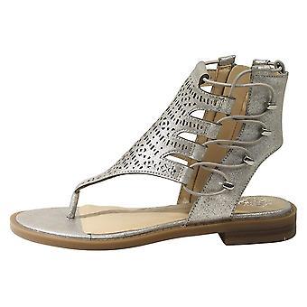 Kids Vince Camuto Girls Juli Fabric Zipper Ankle Wrap Gladiator Sandals