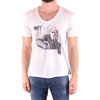 Neil Barrett Ezbc058064 Männer's weiße Baumwolle T-shirt