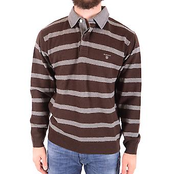 Gant Ezbc144007 Men's Brown Wool Polo Shirt
