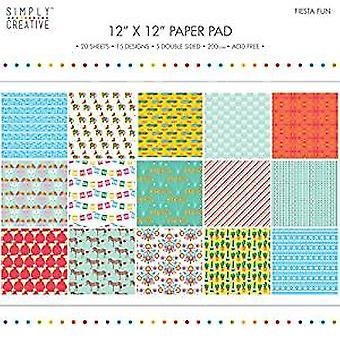 Simply Creative 12x12 Inch Paper Pad Fiesta Fun