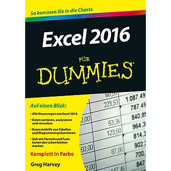 Excel 2016 Fur Dummies by Greg Harvey - 9783527711970 Book