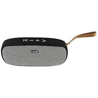 LinQ wireless Bluetooth Speaker 4.2 USB Micro-USB Card FM Radio Black and Grey