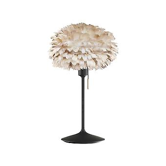 Umage Eos Table Lamp - Light Brown Feather Eos Mini/Black Stand
