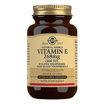سولغار فيتامين E 268mg (400iu) كبسولات هلامية نباتية 50 (3546)