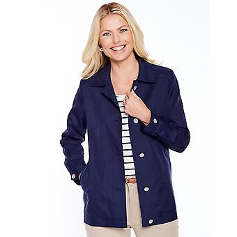 Chums Ladies Blouson Style Lightweight Jacket Coat With Piping