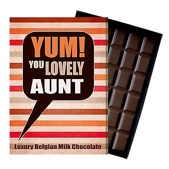 Gift for Aunt Auntie Novelty Boxed Chocolate Greetings Card Present YUM115