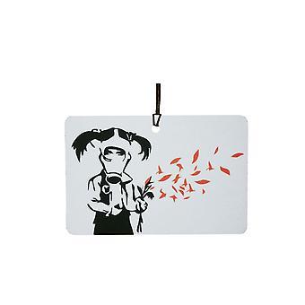 Banksy Gas Mask Girl Car Air Freshener