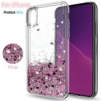 Iphone X / XS-floating Glitter 3d Bling Shell Case