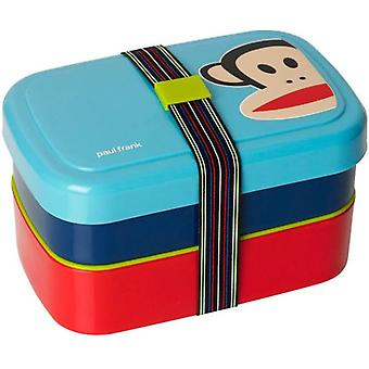 Paul Frank blå piknik lunsj boks (kjøkken, kjøkken organisasjon, Tuppers)