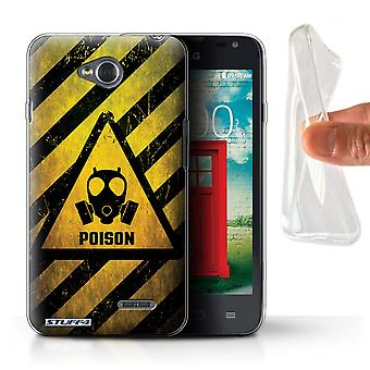 STUFF4 Gel TPU Case/Cover for LG L65/D280/Poison/Hazard Warning Signs