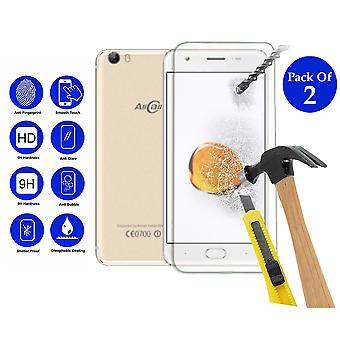 Pack of 2 Tempered Glass Screen Protection For All Call T9 Pro 5.5
