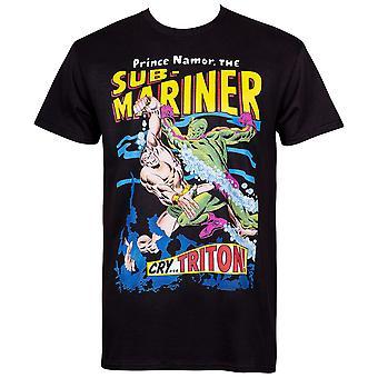 Prinz Namor, der Sub-Mariner #2 Comic Cover Männer's schwarzes T-Shirt