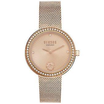 Versus Versace | Frauen's Lé©a | Rose Gold Mesh Armband | Rose Gold Zifferblatt | VSPEN0919 Uhr