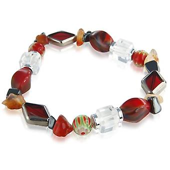 Armband rot Cristallo Karussell