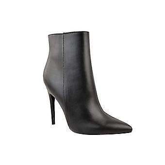 Faux Pelle Puntato Toe Stiletto Side zip heel Stivali stivaletti nero