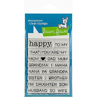 Lawn Fawn Happy Happy Happy Add-On: Family Clear Stamps