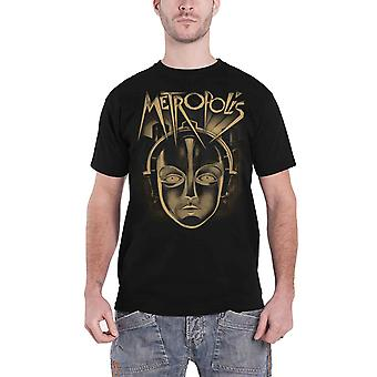 Metropolis T Shirt Face Vintage Movie new Official Mens Black