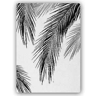 Impressão de metal, folhas de palmeira