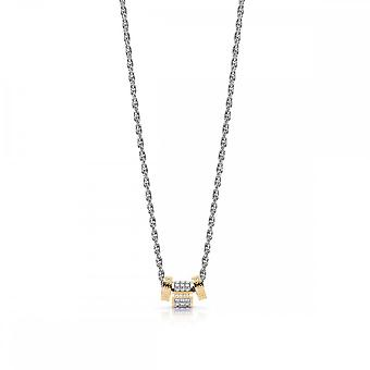 Guess Jewellery Guess Silver Chain Necklace With 3 Gold Crystal Beads UBN78039
