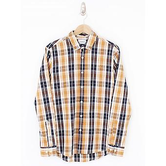 Farah Brewer Slim Fit Shirt - Gold