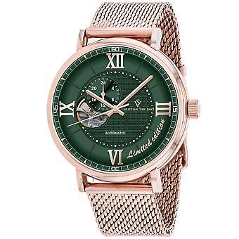 Christian Van Sant Men's Somptueuse LTD Reloj de marcación verde - CV1148