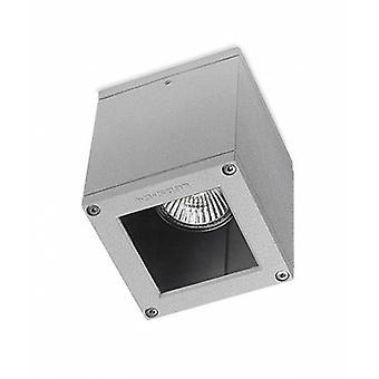 1 Light Outdoor Surface Mounted Ceiling Light Grey Ip54