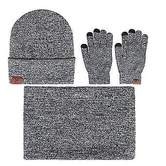 3 pcs Chapeau d'hiver + Écharpe + Gants