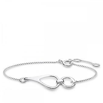 Thomas Sabo Sterling Silver Thomas Sabo Heritage Silver Interlocking Bracelet A1856-001-21-L19v