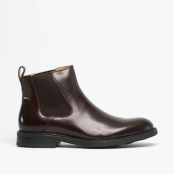 Steptronic Globe Mens Leather Chelsea Boots Brown