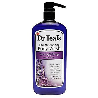 Dr. teal's ultra moisturizing body wash, soothe & sleep, lavender, 24 oz