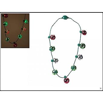 Light Up 9 Jingling Bell Christmas Novelty Necklace