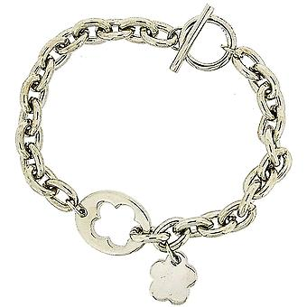 Set of 3 Pierre Cardin Ladies Silver Plated Charm Bracelet - 8 Inch with T-Bar Closure