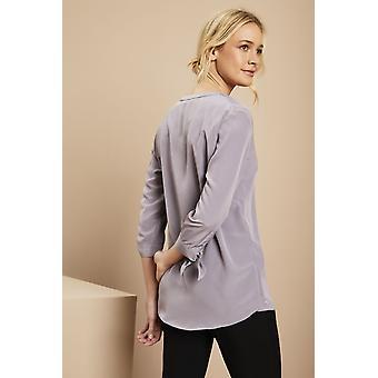 SIMON JERSEY Women's 3/4 Sleeve Blouse, Violet