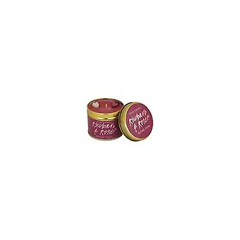 Bomb Cosmetics Tinned Candle - Rhubarb & Rose