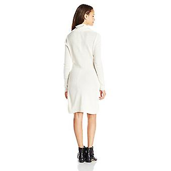 A. Byer Juniors Cable-Knit Fashion Sweater Dress, Ivory,, Ivory, Size Large
