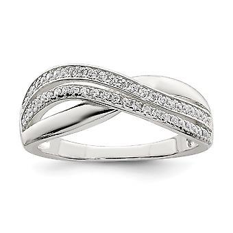 925 Sterling Silver och CZ Cubic Zirconia Simulerade Diamond Ring Smycken Gåvor för kvinnor - Ring Storlek: 6 till 8