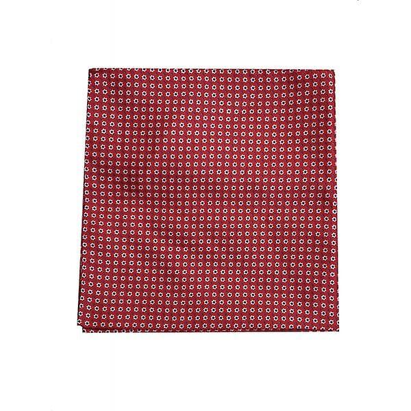Hugo Boss Pocket Square Red 100% Silk 50386869
