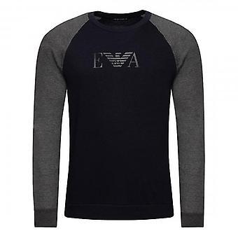 Emporio Armani Underwear Navy Crew Neck Loungewear Sweatshirt 111062 9A566