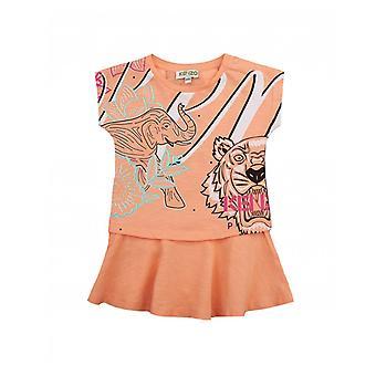 Kenzo Kids Juju Tiger Graphic Print Dress