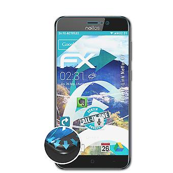 atFoliX 3x Protective Film compatible with TP-Link Neffos C7 Screen Protector clear&flexible