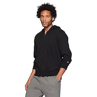 Starter Men's Zip-Up Hoodie,  Exclusive, Black, Large