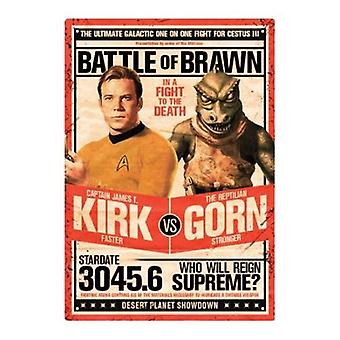 Star trek kirk v gorn tin sign