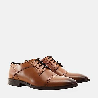 Raymond tan leather derby brogue