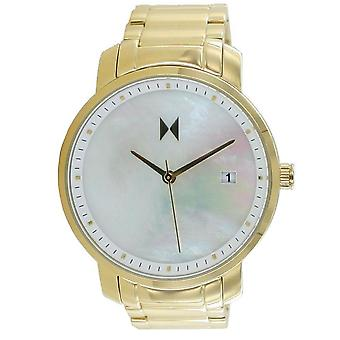 MVMT Signature Women's Watch Wristwatch Gold Pearl MF01-G