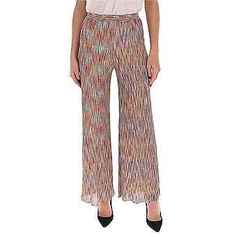 Missoni Mdi00130bk00ikfm04y Women's Multicolor Silk Pants