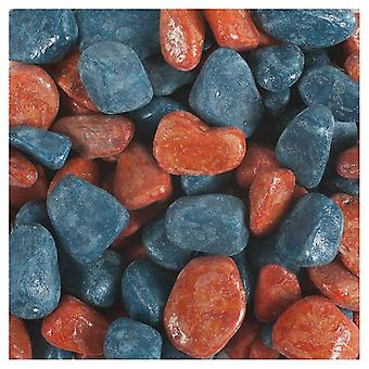 Tyrol Varnished Petrol Blue Terracotta Mixed Gravel