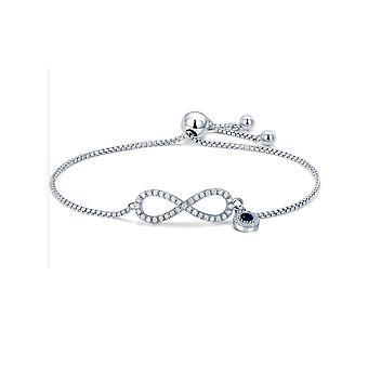 Unendliche Damen Armband geschmückt mit Kristall von Swarovski weiß und Silber 925/1000 8099