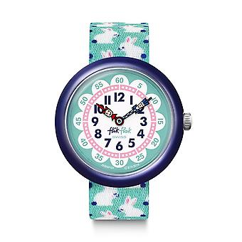 Flik Flak Watches Fbnp151 Hophophop Navy & Green Bunny Textile Watch