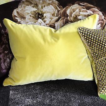 Designers Guild Cassia Plain Cushion In Alchemilla Yellow